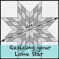 Resizing your Lone Star Patterns/Tutorials | Star quilts ... & making a lone star quilt of any size Adamdwight.com
