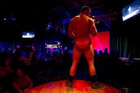Latin stripper on stage