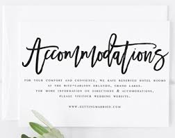 wedding accommodations template accommodation cards etsy