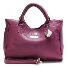 Real Coach Legacy Large Fuchsia Satchels ABX