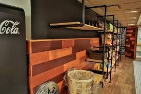wall shelf with rail wood panel wall pipe rail shelves