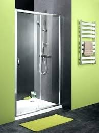 sliding shower door with satin chrome frame and clear glass home pivot kit framed doors replacement