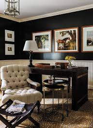 office space manly. Isn\u0027t This Masculine Office Space Just Perfect For Fall? I Love The Dark And Cozy Feel. Black Walls + Tufted Chair Chic Antelope Rug Desk Manly A