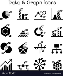 Data Chart Icon Data Diagram Graph Chart Icon Set