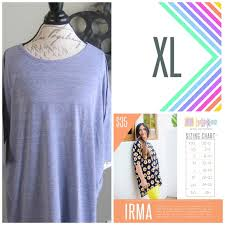 Xl Irma Size Chart Lularoe Irma Size Xl Brand New With Tags Boutique