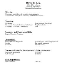 How To Write A First Resume How To Write Your First Resume In High