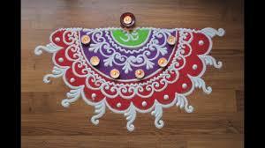Diwali Rangoli Designs Sanskar Bharti Quick And Simple Freehand Sanskar Bharti Rangoli Design For