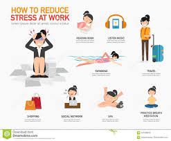 How To Reduce Stress At Work Stock Vector Illustration Of