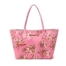 victoria s secret pu printed tote women s fashion handbag