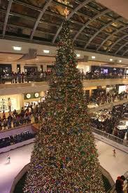 The 55-foot Christmas tree is lit at The 26th Annual Galleria Ice  Spectacular in