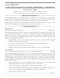 Executive Chef Resume Resume For Study