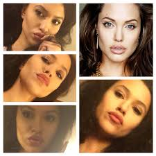 i ve always loved art and make up is one of the ways in which i manifest it this is my angelina jolie inspired look and i am quite proud of myself