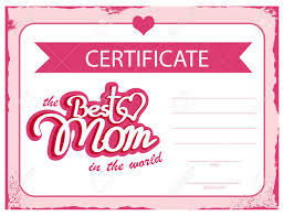 Template Vector Certificate Best Mom In The World A Gift