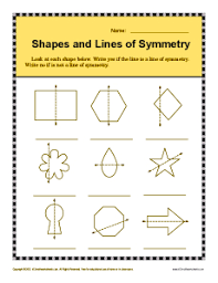 Shapes And Lines Of Symmetry 4th Grade Geometry Worksheets