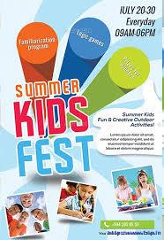 50 Best Kids Summer Camp Flyer Print Templates 2018 Frip In