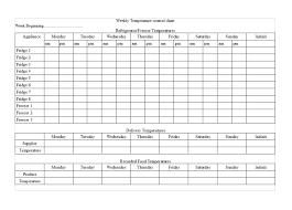 Food Monitoring Chart 80 Problem Solving Cooking Temperature Chart Pdf