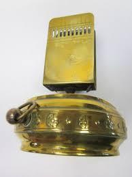 antique matchbox match box holder safe striker solid brass old dutch vintage