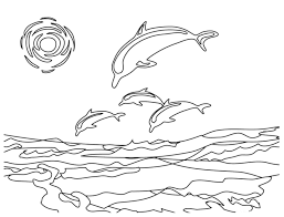 Small Picture Coloring Pages Dolphins Beach Coloring Page Dolphins Easy Pagejpg