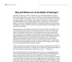 essay introduction useful links for students essay  an essay on the battle of hastings why william won the best estimate professional