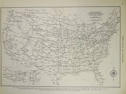 Us Highway Mileage Chart 1939 Highway Automobile Routes Vintage Atlas Map Its A