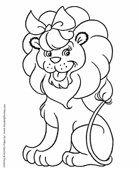 Small Picture Pre K Coloring Pages Free Printable Lion Pre K Coloring Page