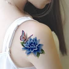 Dočasné Tetování Květiny A Motýl Poštovnézdarmacz