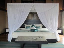 Queen Size Canopy Bed Frame White Houston Model. bedroom interior design  inspiration. homes interior ...