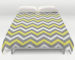 Yellow gray bedding Bedding Sets Chevron Bedding Grey Yellow Duvet Chevron Duvet Cover Yellow Gray Coverlet Modern Bed Cover King Queen Full Twin Size Yellow Duvets Etsy Yellow Gray Bedding Etsy