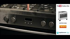 Westinghouse Kitchen Appliances Freestanding Westinghouse Dual Fuel Oven Stove Wfe912sa Review