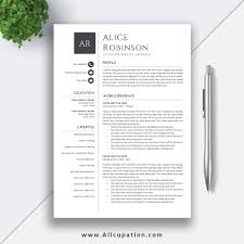 1 Page Resume Template One Google Docs Cascade Free Download Best