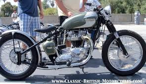 choppers and bobbers built from classic british motorcycles w eye