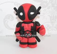 Deadpool Super Hero Cake Topper Cakesdecor