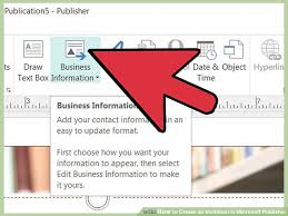 Create Your Invitation 3 Ways To Create An Invitation In Microsoft Publisher Wikihow
