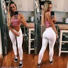 Sultry brunette perfect butt ass
