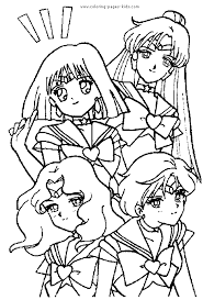 Small Picture Sailor Moon color page Coloring pages for kids Cartoon