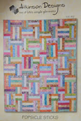 Popsicles Sticks Pattern - Shop Online at Creations & Popsicle Sticks quilt pattern by Atkinson Designs Adamdwight.com