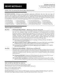free petroleum engineer resume example sample hotel engineer resume