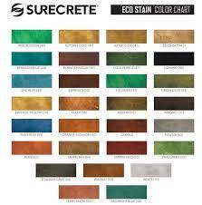 Concrete Available Color Charts Beauty Crete Inc