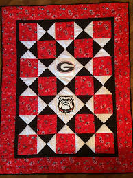 167 best Georgia Bulldogs Quilts images on Pinterest | Bays ... & Georgia Bulldogs quilt for the grandbaby. Adamdwight.com