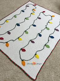 Crochet Christmas Lights Blanket Crochet Christmas Lights Blanket Pattern Christmas Crochet