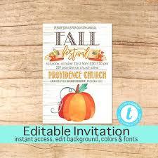 Fall Festival Invitations Harvest Festival Invitation Wording