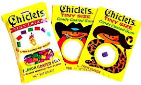 Chiclets Tiny Bubble Gum - 20 / Box - Candy Favorites