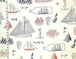 nautical fabric ship in bottle anchor sail boat beach from brick house novelty fabrics boats and