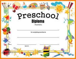 Preschool Graduation Certificate Free Printable Under