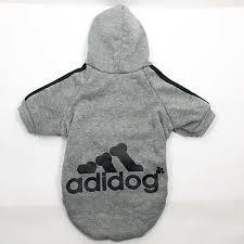 Adidog Pet Clothes For Dog Puppy Hoodies Coat Winter Sweatshirt Gray Size Xl Ebay