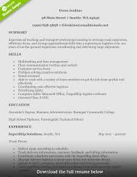 Pretty Trucker Resume Sample Pictures Inspiration Resume Ideas
