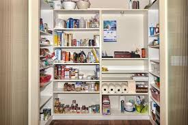 Walk In Pantry Shelving Systems WIth Creative Sectional For Food Organizing