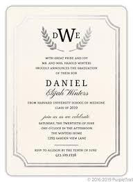 Invitations Formal Formal Double Frame Silver Foil Medical School Graduation Invitation
