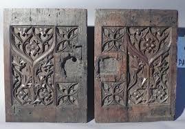 antique cabinet doors. pair 17th century italian carved oak cabinet doors : item # 6539 - for sale antique
