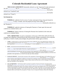 Now you can fill out and print a pdf blank online. Free Colorado Rental Lease Agreement Templates Pdf Word Doc